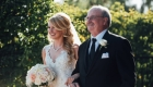 bride and father florals