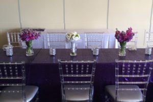 purple sequin tablecloth
